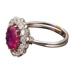 Ruby Diamond Platinum Ring