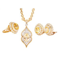 Van Cleef & Arpels Lucille Ball Estate Yellow Gold Jewelry Set