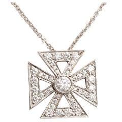 TIFFANY & CO. Maltese Cross Diamond Pendant