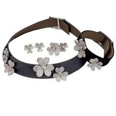 VAN CLEEF & ARPELS Frivole Diamond White Gold Jewelry Set