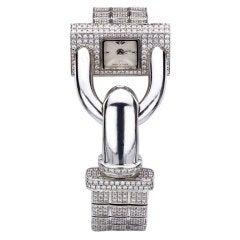 VAN CLEEF & ARPELS White Gold and Diamond Cadenas Bracelet Watch