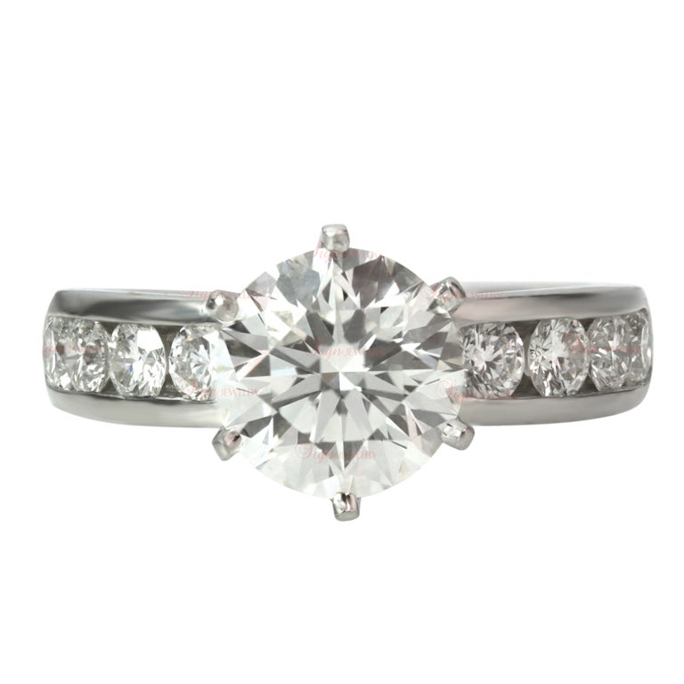 TIFFANY and CO 2 15 Carat Round Diamond Engagement Ring at 1stdibs