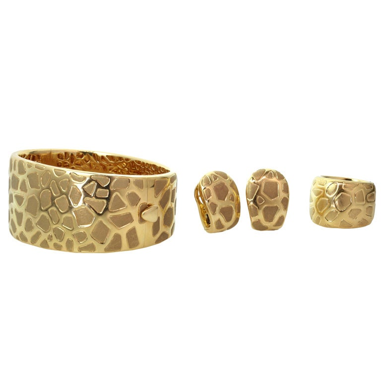 Roberto Coin Giraffe Yellow Gold Bracelet Earrings And