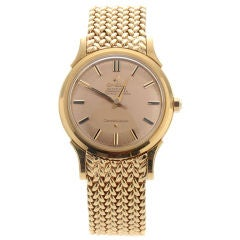 Omega Yellow Gold Constellation automatic Wristwatch, Circa 1960s