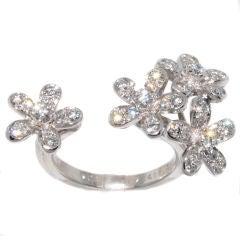 VAN CLEEF & ARPELS Flower White Gold Diamond Ring