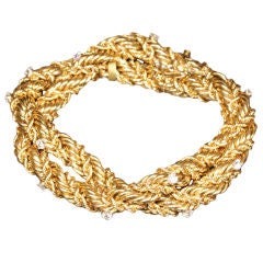 TIFFANY & CO. SCHLUMBERGER Diamond and Gold Bracelet
