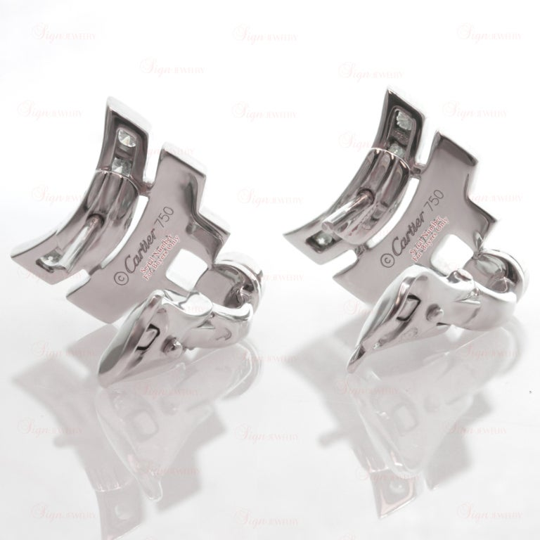 CARTIER Le Baiser Du Dragon Ruby Diamond Lacquer Earrings 3