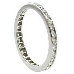 TIFFANY & CO. Diamond Eternity Platinum Wedding Band