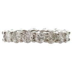 4.81 Carat Diamond Shared-Setting Platinum Eternity Ring