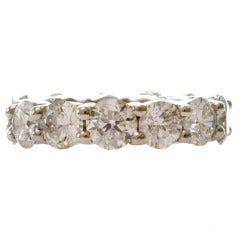 6.45 Carat Diamond Shared-Setting Platinum Eternity Ring