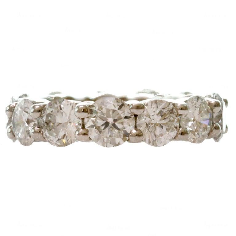 6.45 Carat Diamond Shared-Setting Platinum Eternity Ring