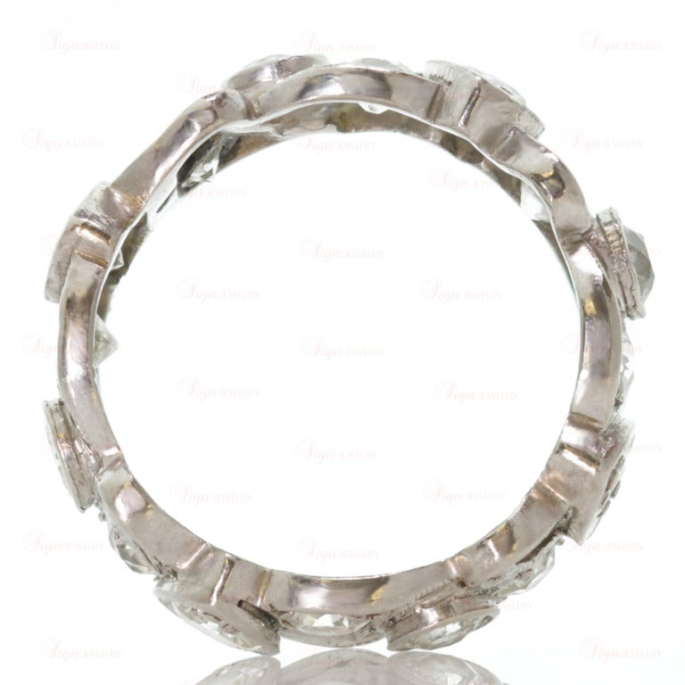 Rare Diamond Filigree Platinum Wedding Band At 1stdibs