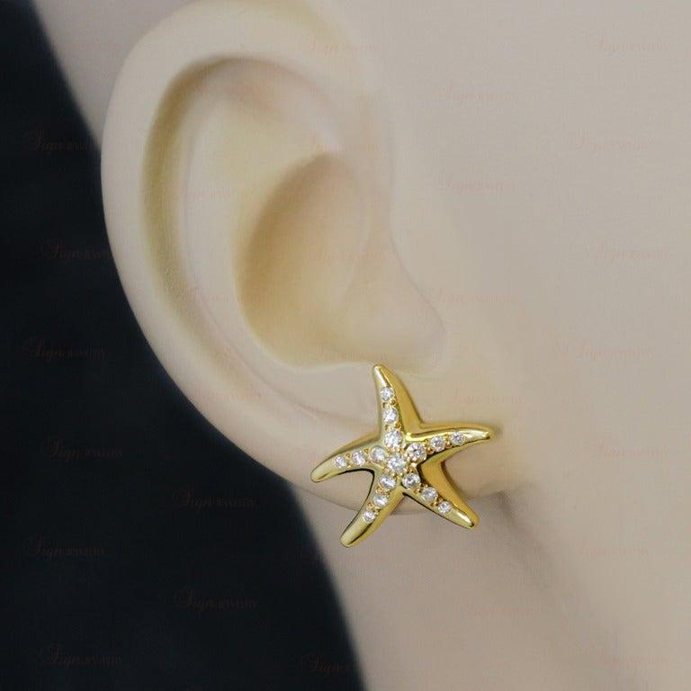 Tiffany And Co Elsa Peretti Diamond Gold Starfish