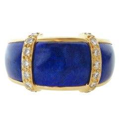 VAN CLEEF & ARPELS Diamond Lapis Lazuli Yellow Gold Ring