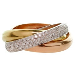 CARTIER Trinity Collection Tri-Gold Size 53 Ring