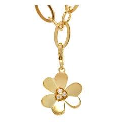 VAN CLEEF & ARPELS Alhambra Frivole Diamond Pendant Necklace