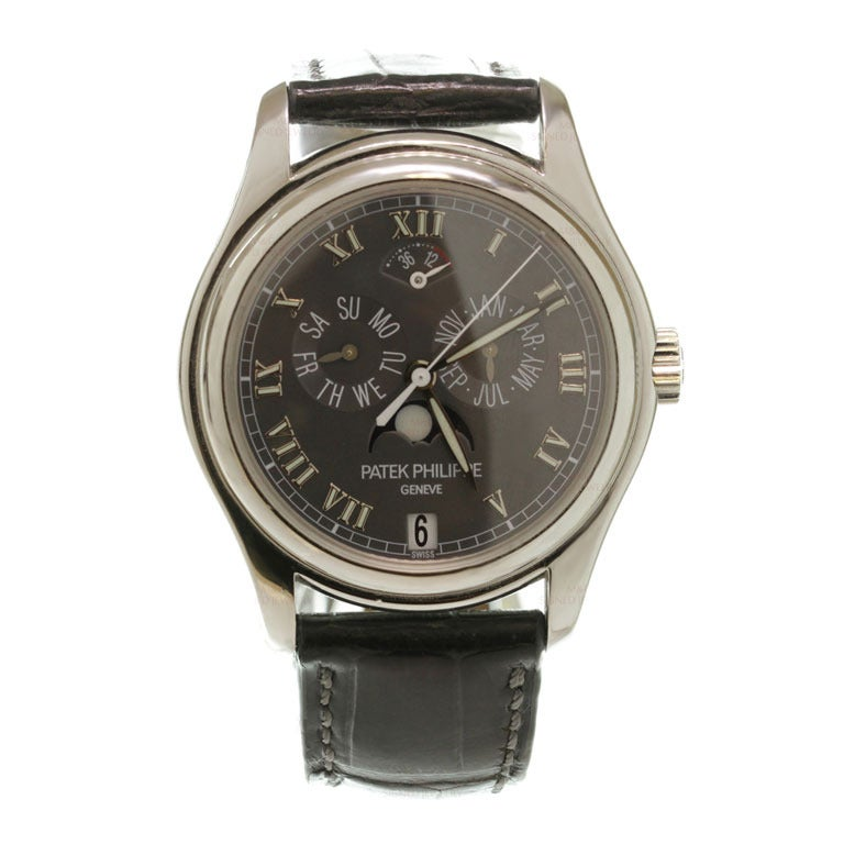 Patek Philippe Platinum Annual Calendar Moonphase Power Reserve Wristwatch