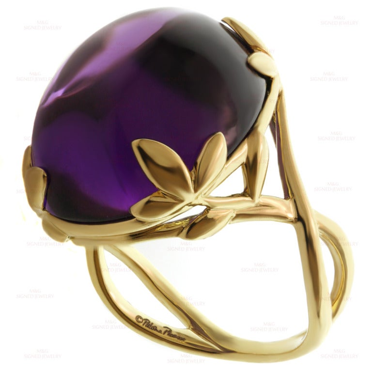 Tiffany And Co Paloma Picasso Amethyst Olive Leaf Yellow