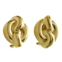 Charles Turi Yellow Gold Lever-Back Earrings