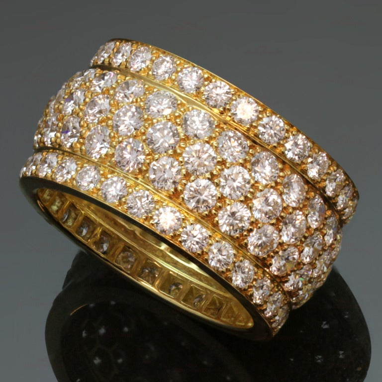 Cartier Nigeria Collection Diamond Yellow Gold Five Row Size 56