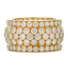 Cartier Nigeria Collection Diamond Yellow Gold Five-Row Ring