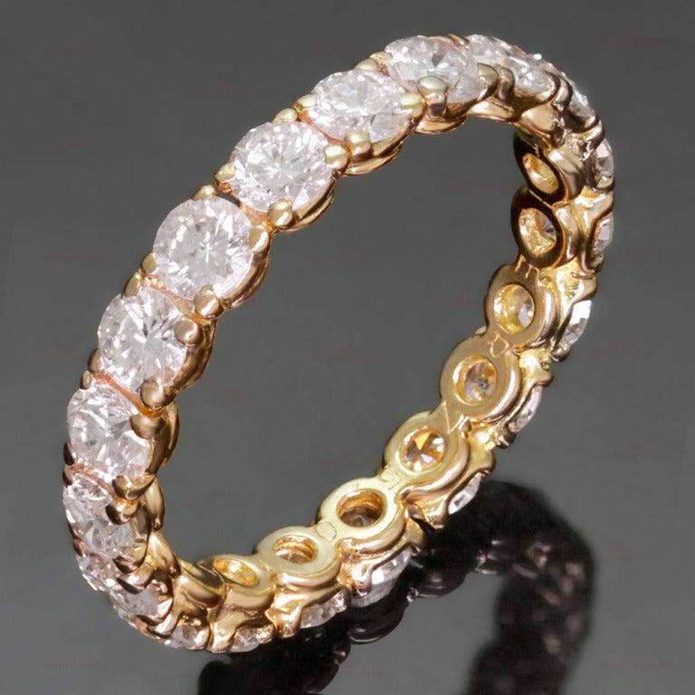 Cartier Classic Diamond Size 5.5 Yellow Gold Wedding Band 2