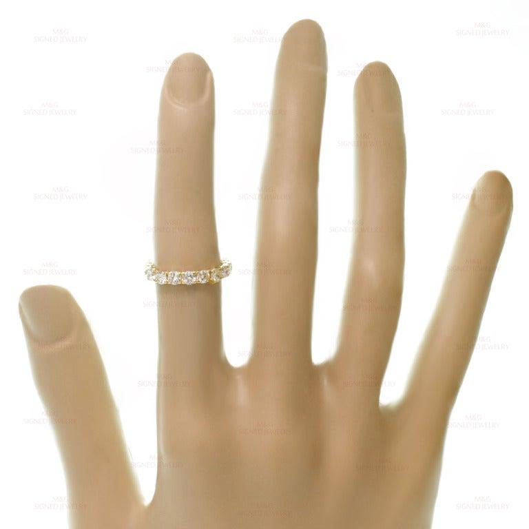 Cartier Classic Diamond Size 5.5 Yellow Gold Wedding Band 5