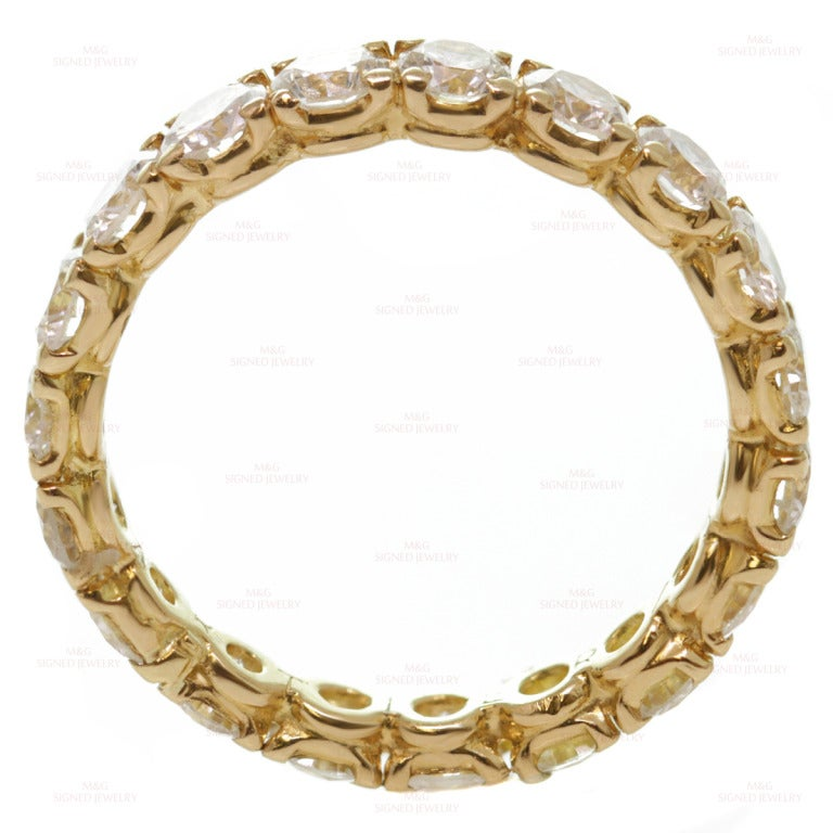 Cartier Classic Diamond Size 5.5 Yellow Gold Wedding Band 6