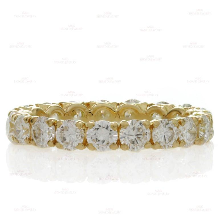 Cartier Classic Diamond Size 5.5 Yellow Gold Wedding Band 7