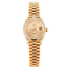 ROLEX Presidential Ladies Datejust Diamond Watch