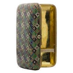OVCHINNIKOFF Original Enamel Silver Gold-Plated Cigarette Case