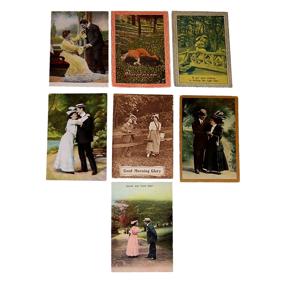 dating photo postcards