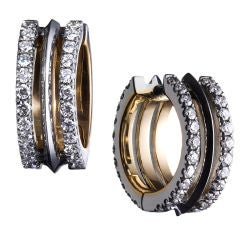 Alexandra Mor Petite Diamond Hoop Earrings