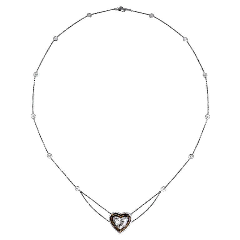Alexandra Mor Heart Shape Diamond Necklace
