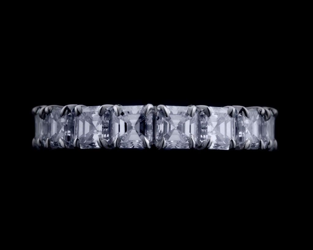 Alexandra Mor Asscher–Cut Diamond Eternity Band 4