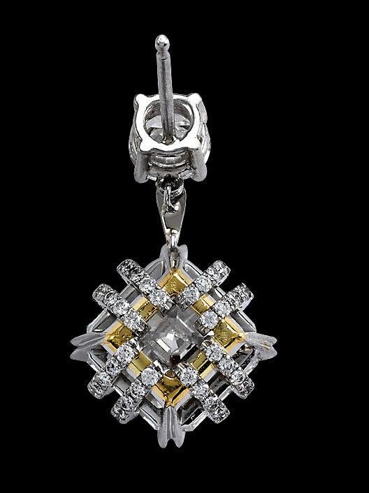 Alexandra Mor Asscher-Cut Diamond Earrings 4