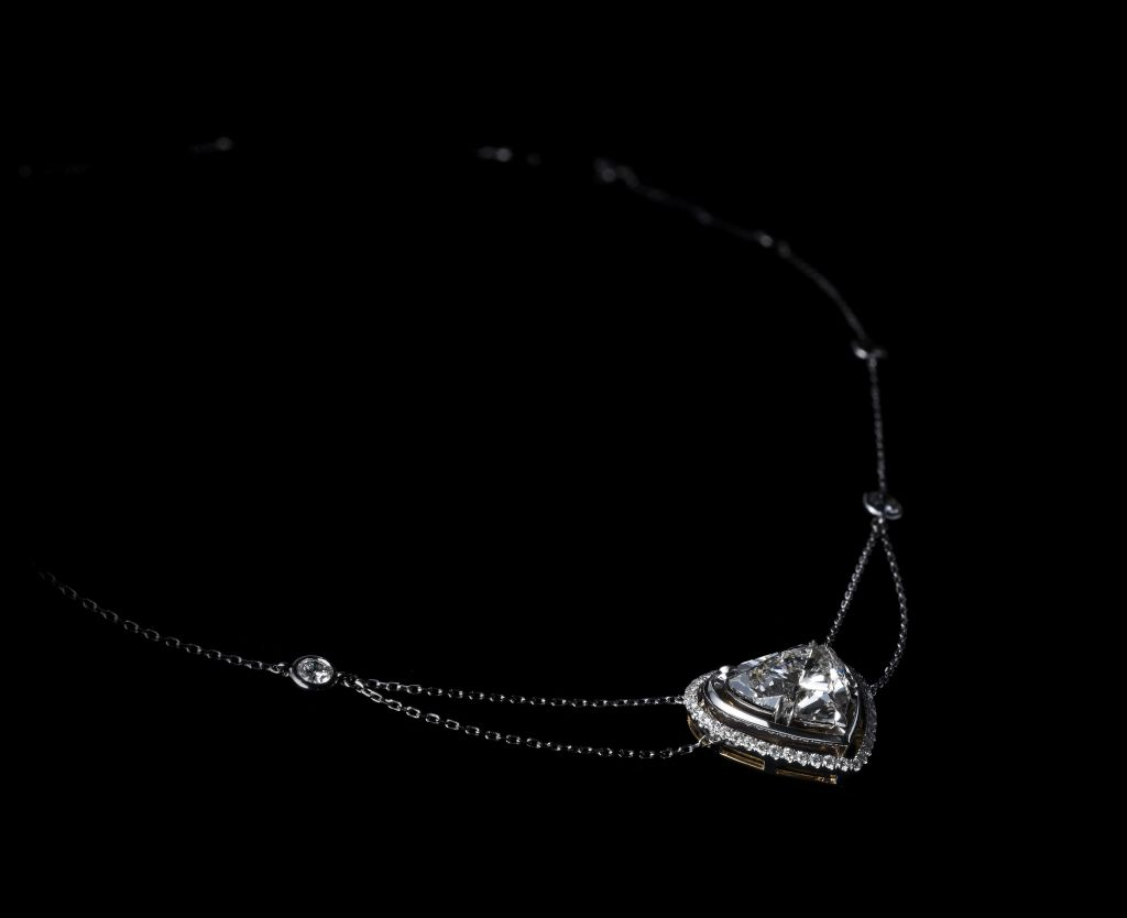 Alexandra Mor Heart Shape Diamond Necklace 3