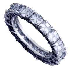 Alexandra Mor Asscher–Cut Diamond Eternity Band
