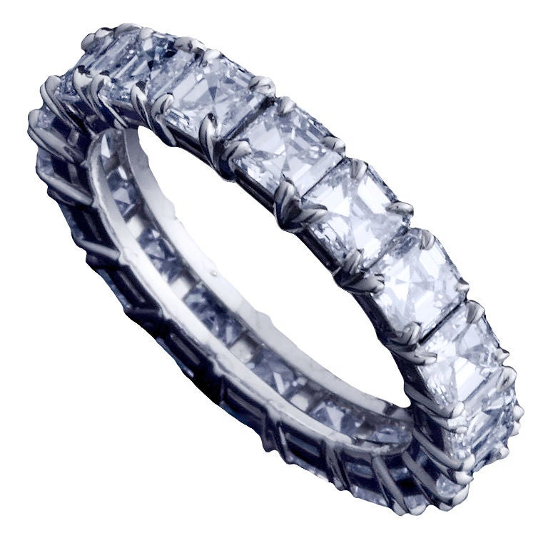 Asscher–Cut Diamond Eternity Band For Sale at 1stdibs