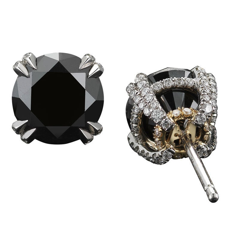 Black Diamond and Diamond Melee Studs For Sale