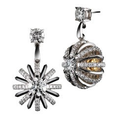 Alexandra Mor Dangling Diamond Snowflake Earrings