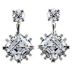 Asscher-Cut Diamond Earrings