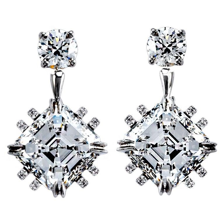 Alexandra Mor Asscher-Cut Diamond Earrings