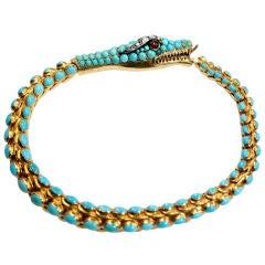 Victorian Turquoise Snake Bracelet