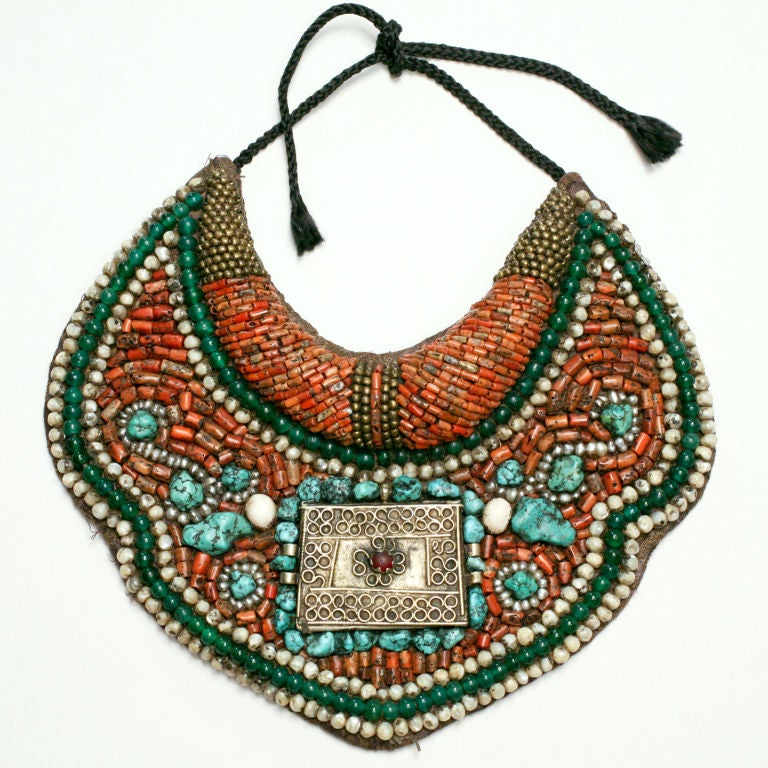 ethnic beaded collar necklace at 1stdibs