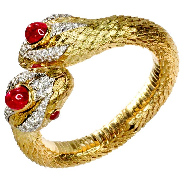 David Webb Serpent Bracelet At 1stdibs