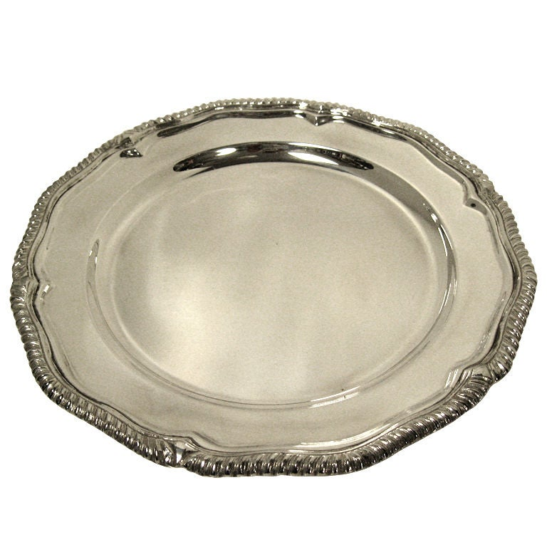 Sheffield Silver Plated Dinner Plate Underplate Charger At 1stdibs