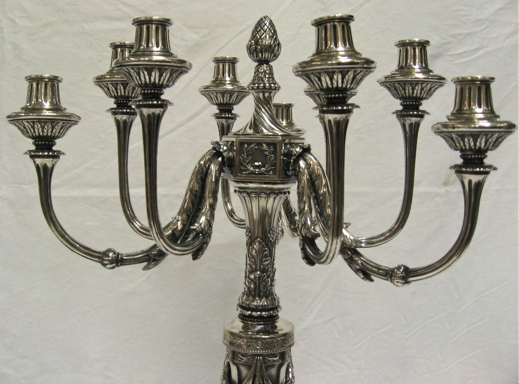 Magnificent And Impressive Large Pr Of Antique Silver