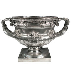 "Monumental, Antique English, Sterling Silver ""Warwick Vase"" Champagne Cooler"