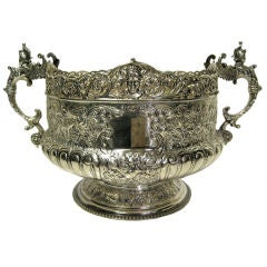 Victorian Sterling Silver Hand Chased Bowl